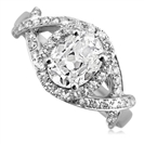 Image for Cushion & Round Diamond Designer Vintage Ring