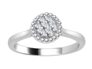 0.25CT VS/EF Elegant Round Diamond Cluster Ring