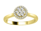 Image for 0.25CT VS/EF Elegant Round Diamond Cluster Ring