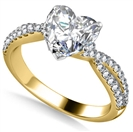 Image for Unique Heart & Round Diamond Ring