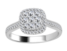 0.52CT VS/EF Round Diamond Cluster Ring