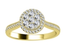 Image for 0.50CT VS/EF Elegant Round Diamond Cluster Ring