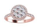 Image for 1.00CT VS/EF Elegant Round Diamond Cluster Ring