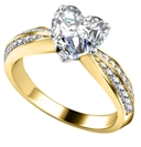 Image for Heart & Round Diamond Engagement Ring