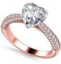 Image for Heart & Round Diamond Vintage Ring