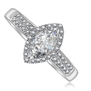 Image for Single Halo Marquise & Round Diamond Ring