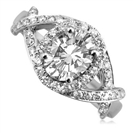 Image for Oval & Round Diamond Designer Ring