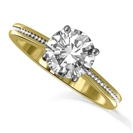 Image for Traditional Single Round Diamond Vintage Style Ring