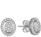 0.50CT VS/EF ROUND DIAMOND CLUSTER EARRINGS