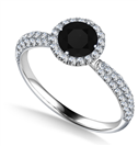 Image for Round Diamond Single Halo Engagement Ring