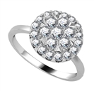 Image for 1.00CT VS/FG Elegant Round Diamond Cluster Ring