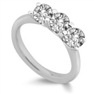 Classic Round Diamond Trilogy Ring