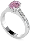 Image for Oval Pink Sapphire & Diamond Shoulder Set Ring