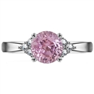 Image for Modern Round Pink Sapphire/Diamond Designer Ring