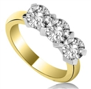 Image for 0.75CT Si1/G Round Diamond Trilogy Ring