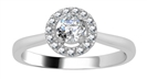 Image for 0.50CT VS/FG Petite Round Diamond Halo Ring