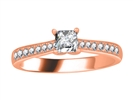 Image for 0.50CT VS/FG Petite Princess Diamond Halo Ring