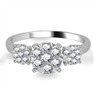0.50CT VS/FG Elegant Round Diamond Cluster Trilogy Ring