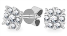 Image for 0.25CT Classic Round Diamond Cluster Earrings