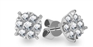Image for 0.30CT Classic Round Diamond Cluster Earrings