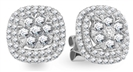Image for 1.00CT VS/FG Round Diamond Halo Cluster Earrings