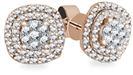 Image for 0.50CT VS/FG Round Diamond Halo Cluster Earrings