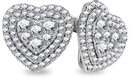 Image for 2.00CT VS/FG Round Diamond Heart Shaped Halo Cluster Earrings