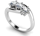 Crossover Round Diamond Trilogy Ring
