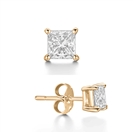 Image for Mens Princess Diamond Single Stud Earring