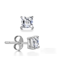 Image for Mens Asscher Diamond Single Stud Earring