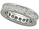 4.00CT Princess Diamond Full Eternity Ring