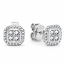 0.25CT VS/EF Round Diamond Halo Earrings
