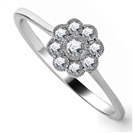 0.25ct VS/EF Elegant Diamond Cluster Ring