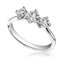 Twist Round Diamond Trilogy Ring