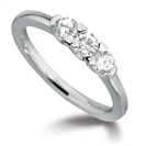 Graduated Round Diamond Trilogy Ring