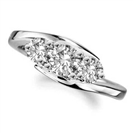 Modern Round Diamond Trilogy Ring