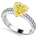 Image for Fancy Yellow Heart Diamond Shoulder Set Ring