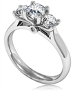 Image for Extravagant Round Diamond Trilogy Ring