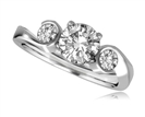 Designer Round Diamond Trilogy Ring
