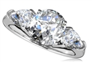 Image for Round & Pear Diamond Trilogy Ring