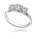 0.75CT SI2/F Round Diamond Trilogy Ring