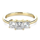 Image for Tapered Band Princess Diamond Trilogy Ring