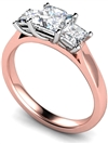 Image for Graduated Princess Diamond Trilogy Ring