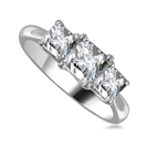 Classic Princess Diamond Trilogy Ring