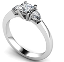 Image for Elegant Princess & Pear Diamond Trilogy Ring