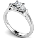 Modern Princess & Trillian Diamond Trilogy Ring