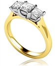 Image for Traditional Asscher Diamond Trilogy Ring
