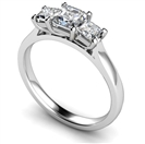 Image for Lavish Asscher Diamond Trilogy Ring