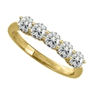 1.00ct VS/EF Round Diamond 5 Stone Ring