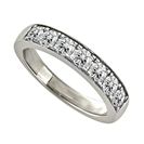 Image for 0.75CT VS/EF Elegant Round Diamond Eternity Ring